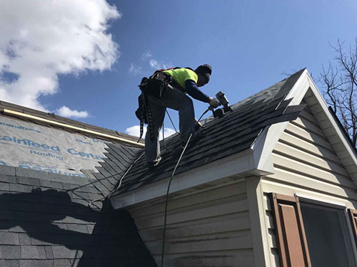 Politz Enterprises completing roof repairs in Frederick, MD