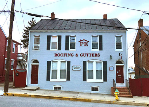 Politz Enterprises business front for roofing and gutters