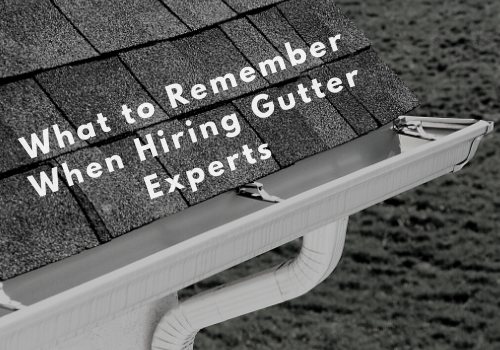 What to remember when hiring frederick md gutter experts