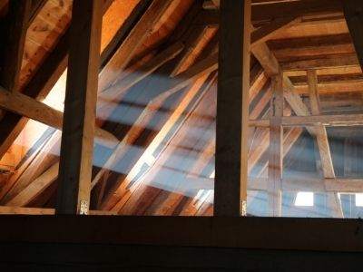 check for roof damage in the attic says roof contractor